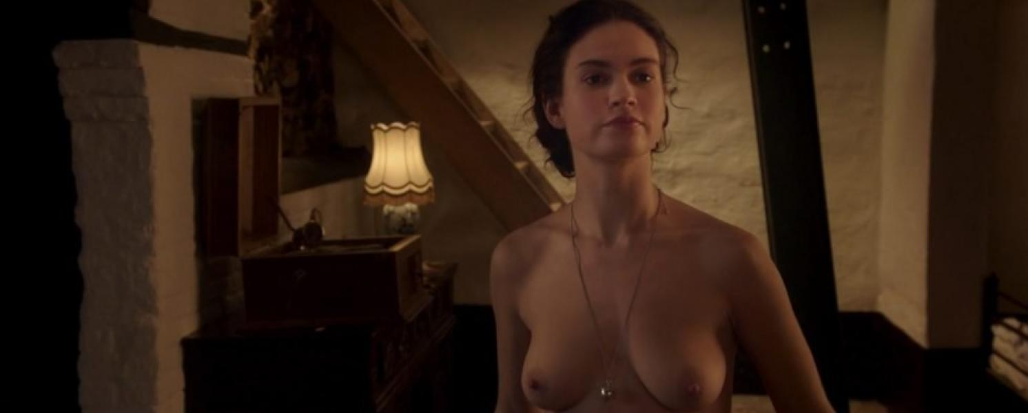 Lily James ETC Nude The Exception HD 1