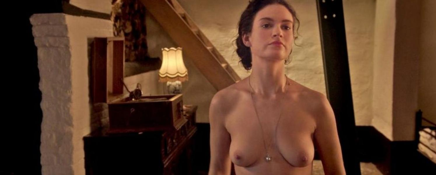 Lily James ETC Nude The Exception HD 12